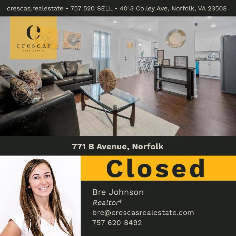 771 B Avenue Norfolk - Closed