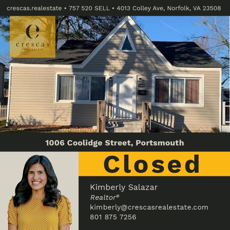 1006 Coolidge Street Portsmouth - Closed