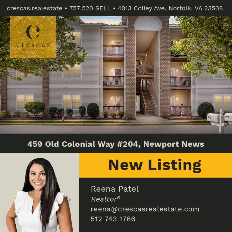 459 Old Colonial Way #204 Newport News - New Listing