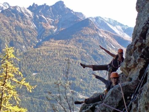 Hautes-Alpes : grande voie avec un moniteur agréé