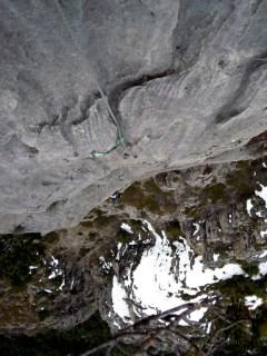 Falaise de Freissinières, rocher gris superbe