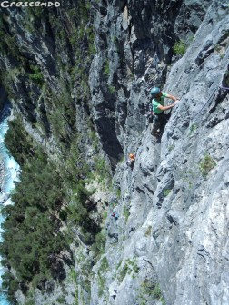 Stages escalade grandes voies Queyras calcaire