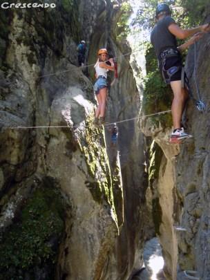 Activité Loisirs via ferrata - que faire dans les hautes alpes en été