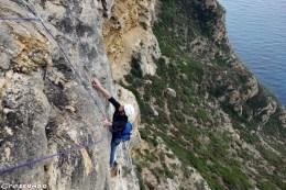 Cap Canaille - Grazie Amici - moniteur escalade calanques