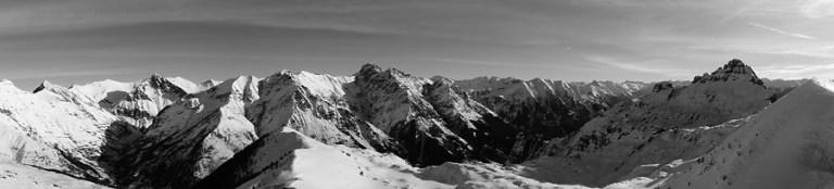 Panorama des Ecrins Sud