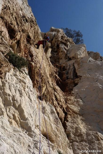 Escalade dans le Parc National des Calanques Lune et Sabre