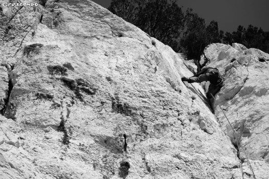 initiation sur les sites d'escalade des calanques - Castelvieil