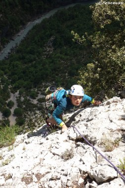 Verdon - Initiation escalade avec un guide