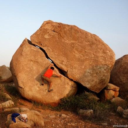egg boulder, escalade en Inde, voyage escalade