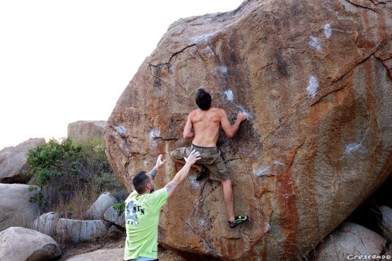escalade hampi, hampi escalade, hampi boulder