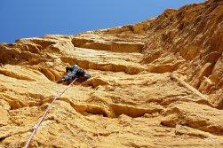 Grande voie dans les Calanques, escalade au Cap Canaille, Bourreur de rousse