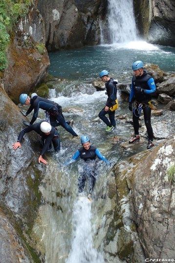 Canyoning, canyon Hautes-Alpes, guide canyon, canyon sportif briançon