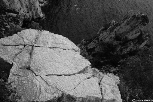 rocher des Calanques, grimper dans les Calanques, grimpe en grande voie