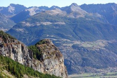 Falaise du Ponteil, grande voie Ponteil