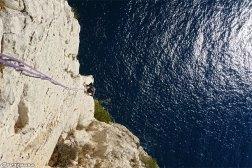 Guide escalade Calanques, grande voie escalade