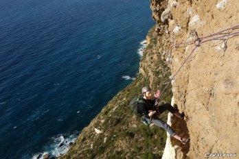 Escalade Cap Canaille, grimper en Provence, escalade grandes voie, escalade l'hiver