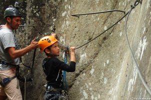 to begin in vai ferrata, alps via ferrata, Briançon children climb