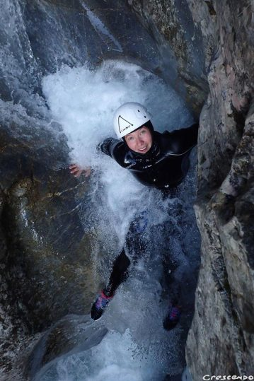 canyoning guide, outdoor activity with family