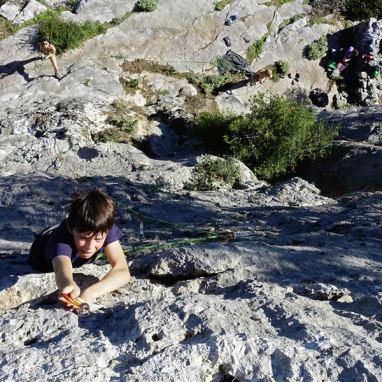 initation escalade, séjour grimpe Peloponèse