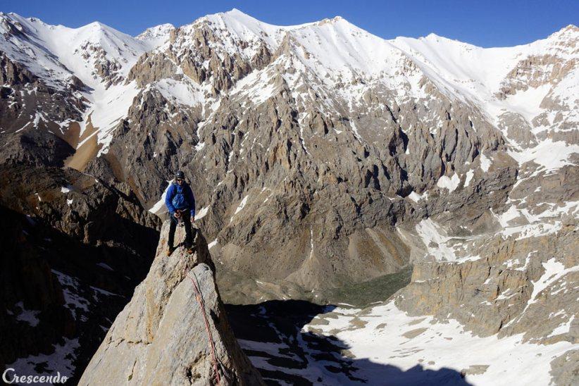 Aladaglar view, moniteur d'escalade, grande voie