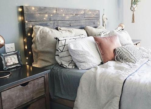 decoração com luzes no quarto