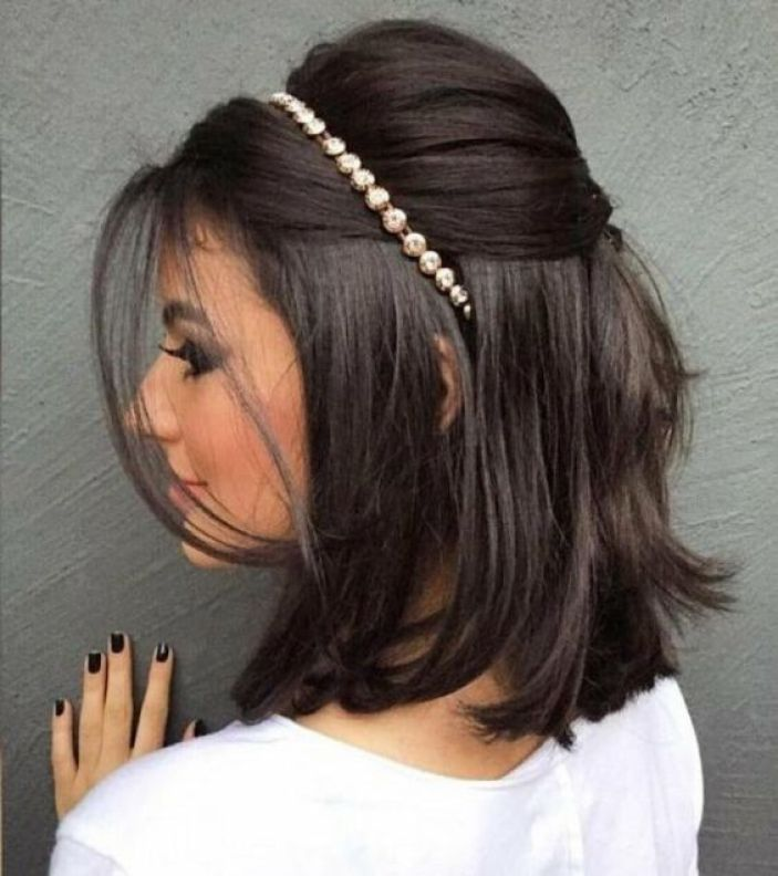 penteado faculdade cabelo tiara