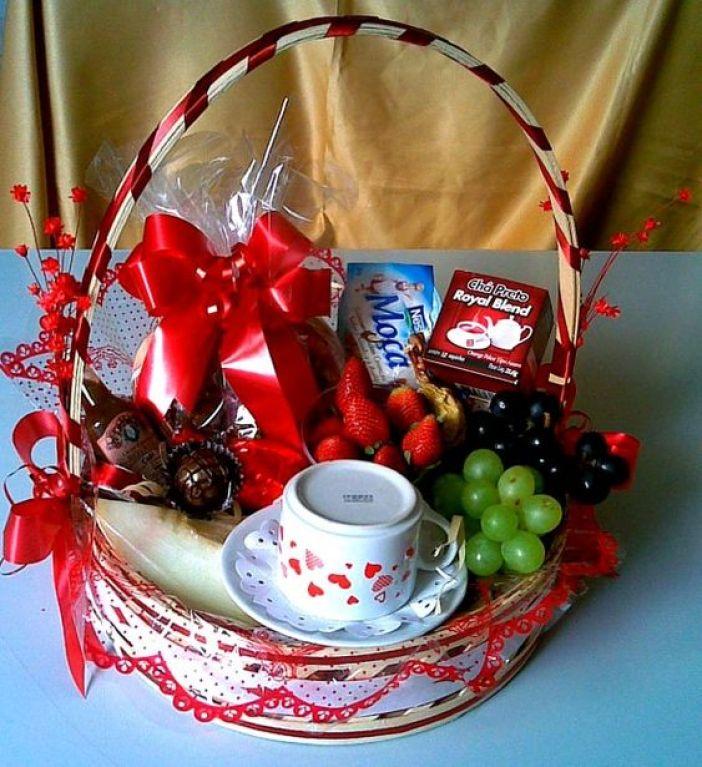 cesta café da manhã mãe