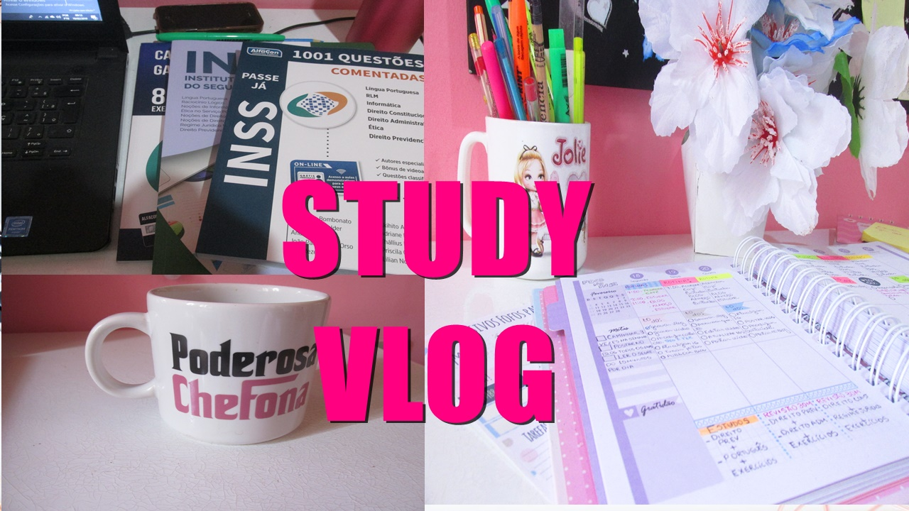 study vlog meu material para o inss #foconoconcurso