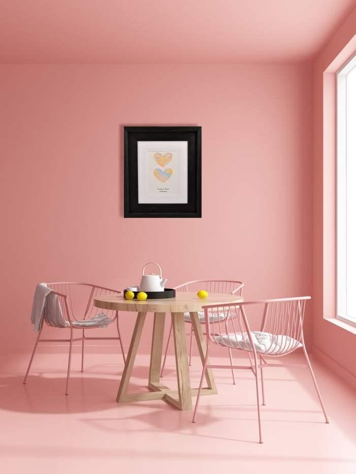 como usar rosa na cozinha