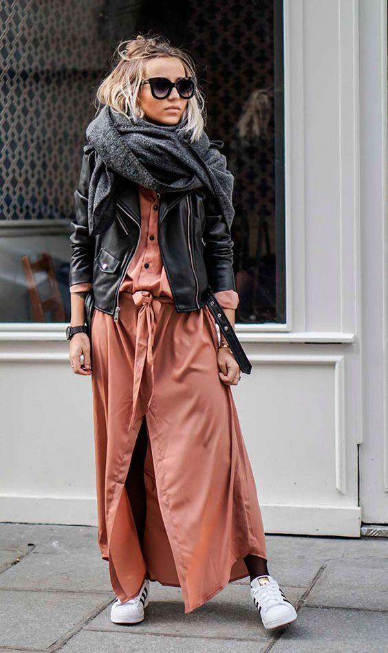 look com cachecol muito fashion