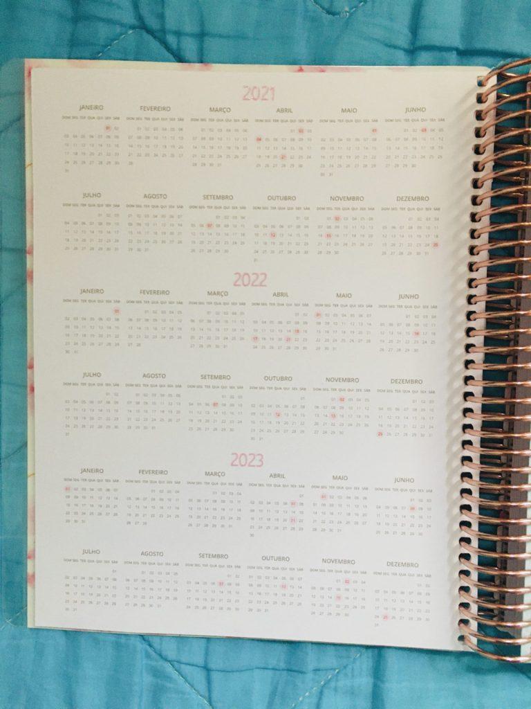 calendário planner enjoy