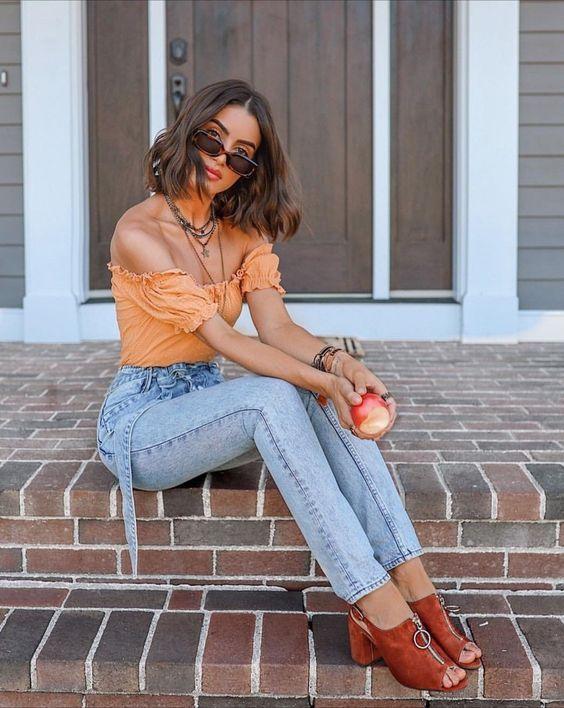 looks com calça jeans camila