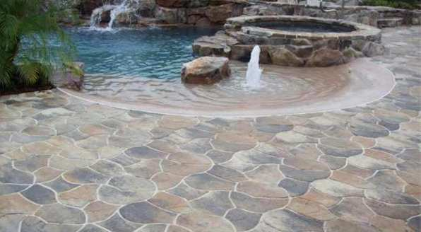 Flagstone Pool Deck Great Falls Northern VA
