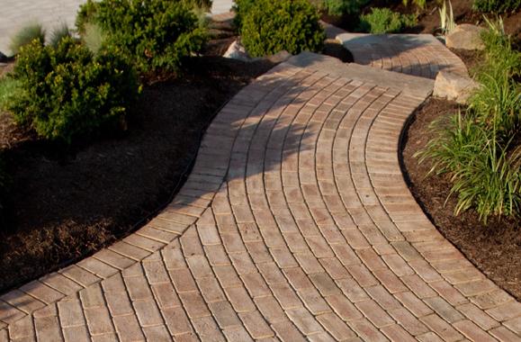 Brick Walkway With Landscaping Northern VA Reston