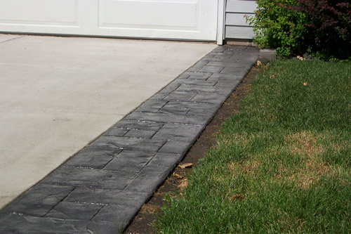 Concrete Driveway with Stamped Border