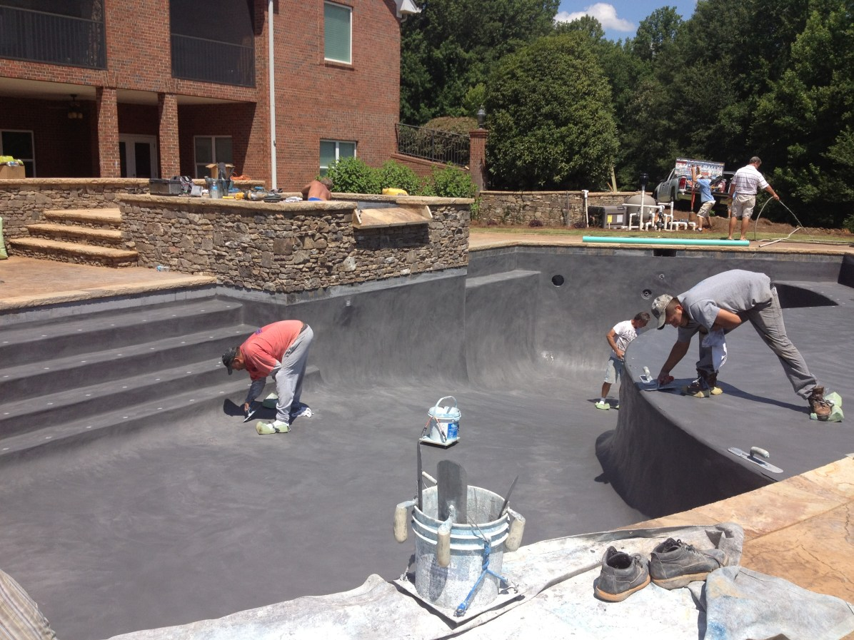 Laying Foundation for New Pool