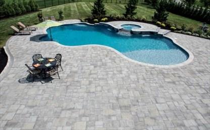 Gray Stone Pool Patio