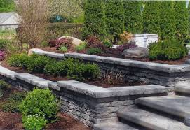 Beautiful Stone Retaining Wall with Matching Steps