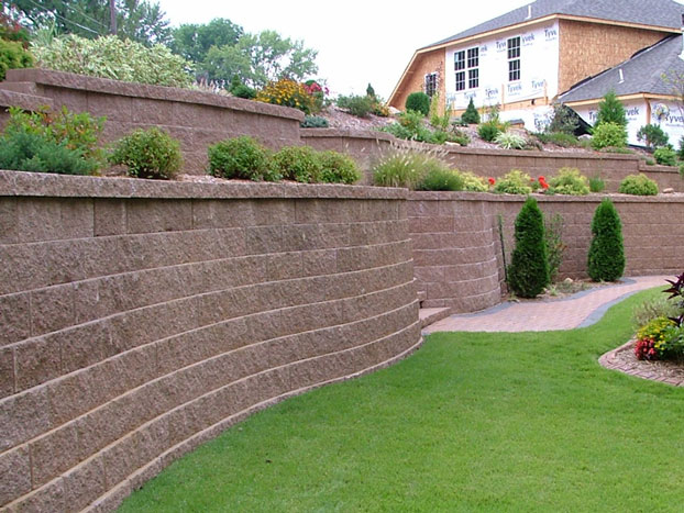 Large Extravagant Retaining Wall