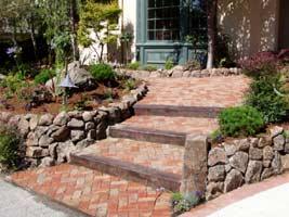 Beautiful Brick Steps to Home
