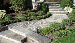 Beautiful Stone Walkway and Steps to Front Door
