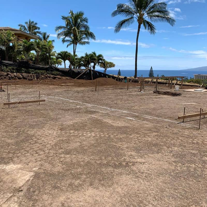 Maui home post excavation ready for foundation work