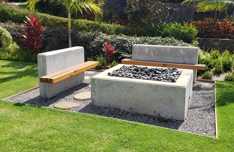 Firepit and seating area