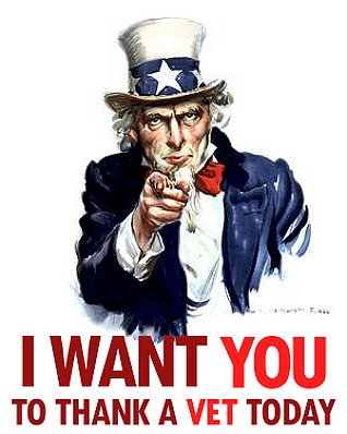 I want You To Thank a Veteran Today