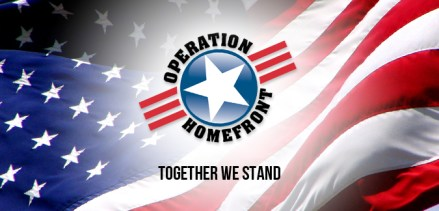 operation homefront logo on flag background