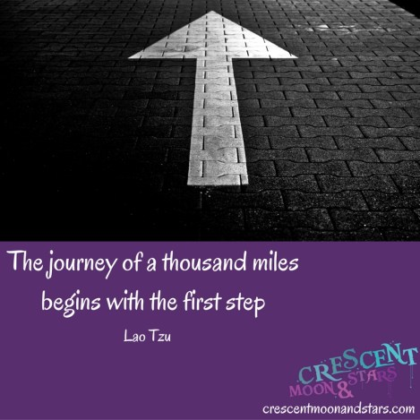 The journey of a thousand milesbegins with the first step