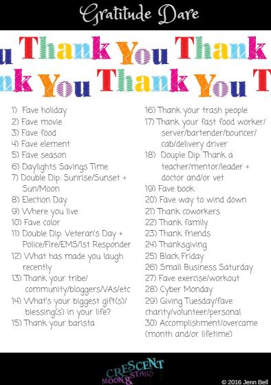 Gratitude Dare