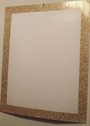 Gold Glitter Poster Board from Staples