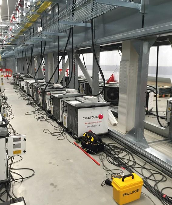 16x 300kW Load test at an Irish data centre