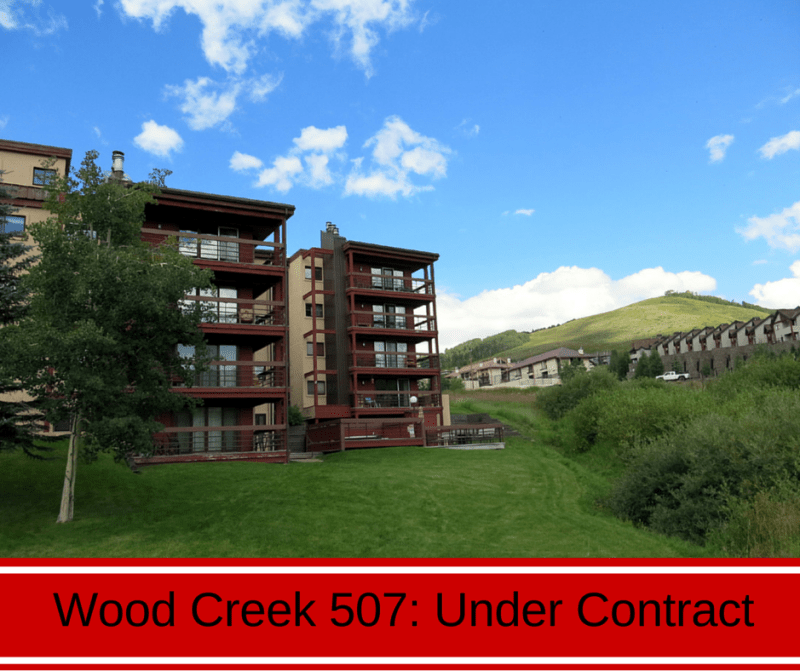 real estate under contract at the Wood Creek Lodge in Crested Butte, CO.